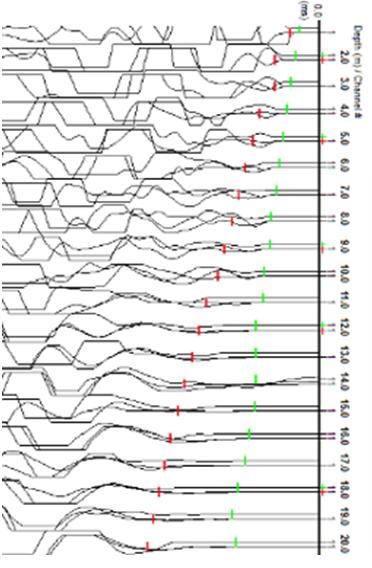 Sismograma de ensayos downhole